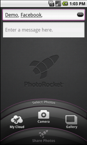 Friendly names for contacts in the EditText field of PhotoRocket for Android app